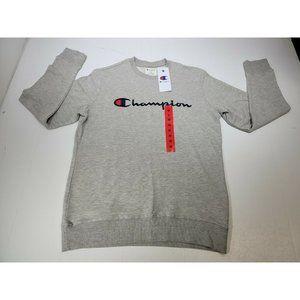 CHAMPION Oxford Gray Crew Neck Sweatshirt Pullover